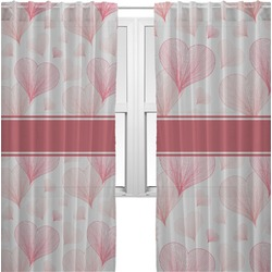 Hearts & Bunnies Sheer Curtains (Personalized)