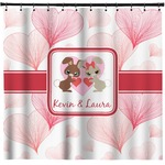 Hearts & Bunnies Shower Curtain (Personalized)