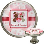 Hearts & Bunnies Cabinet Knob (Silver) (Personalized)