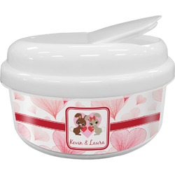 Hearts & Bunnies Snack Container (Personalized)