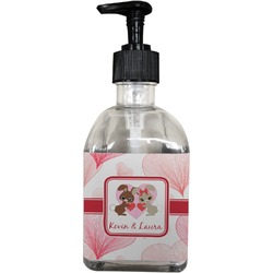 Hearts & Bunnies Soap/Lotion Dispenser (Glass) (Personalized)