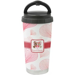 Hearts & Bunnies Stainless Steel Travel Mug (Personalized)