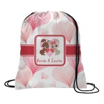 Hearts & Bunnies Drawstring Backpack (Personalized)