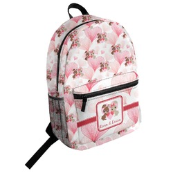 Hearts & Bunnies Student Backpack (Personalized)