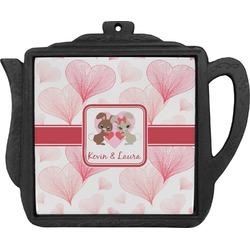 Hearts & Bunnies Teapot Trivet (Personalized)