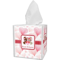 Hearts & Bunnies Tissue Box Cover (Personalized)