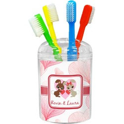 Hearts & Bunnies Toothbrush Holder (Personalized)