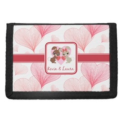 Hearts & Bunnies Trifold Wallet (Personalized)