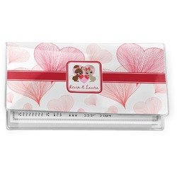 Hearts & Bunnies Vinyl Checkbook Cover (Personalized)