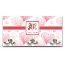Hearts & Bunnies Wall Mounted Coat Rack (Personalized)