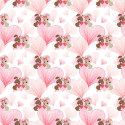 Hearts & Bunnies Wallpaper & Surface Covering