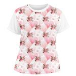 Hearts & Bunnies Women's Crew T-Shirt (Personalized)
