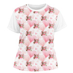 Hearts & Bunnies Women's Crew T-Shirt (Personalized)
