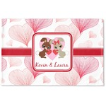 Hearts & Bunnies Woven Mat (Personalized)