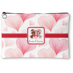 Hearts & Bunnies Zipper Pouch (Personalized)
