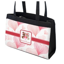 Hearts & Bunnies Zippered Everyday Tote (Personalized)