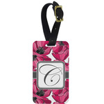 Tulips Metal Luggage Tag w/ Initial