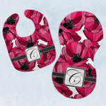 Tulips Baby Bib & Burp Set w/ Initial