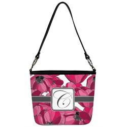 Tulips Bucket Bag w/ Genuine Leather Trim (Personalized)