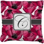 Tulips Faux-Linen Throw Pillow (Personalized)