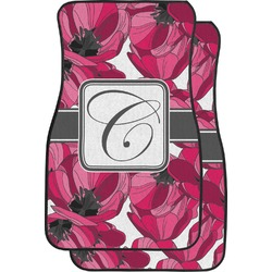 Tulips Car Floor Mats (Front Seat) (Personalized)