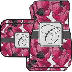 Tulips Car Floor Mats Set - 2 Front & 2 Back (Personalized)