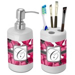 Tulips Bathroom Accessories Set (Ceramic) (Personalized)