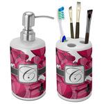 Tulips Bathroom Accessories Set (Ceramic) (Personalized)