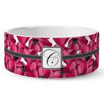 Tulips Ceramic Dog Bowl (Personalized)