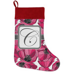 Tulips Holiday Stocking w/ Initial