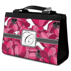 Tulips Classic Tote Purse w/ Leather Trim (Personalized)