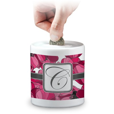 Tulips Coin Bank (Personalized)