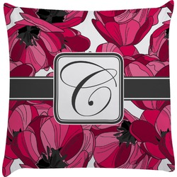 Tulips Decorative Pillow Case (Personalized)
