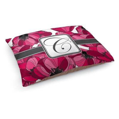 Tulips Dog Bed - Medium w/ Initial