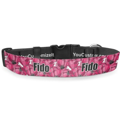 Tulips Deluxe Dog Collar (Personalized)