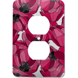 Tulips Electric Outlet Plate (Personalized)