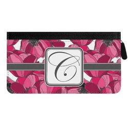 Tulips Genuine Leather Ladies Zippered Wallet (Personalized)