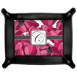 Tulips Genuine Leather Valet Tray (Personalized)