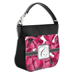 Tulips Hobo Purse w/ Genuine Leather Trim (Personalized)