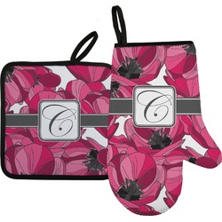 Tulips Oven Mitt & Pot Holder (Personalized)