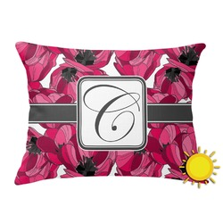 Tulips Outdoor Throw Pillow (Rectangular) (Personalized)