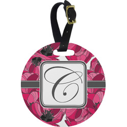Tulips Round Luggage Tag (Personalized)