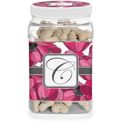 Tulips Dog Treat Jar (Personalized)