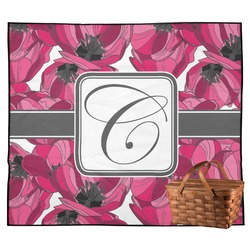 Tulips Outdoor Picnic Blanket (Personalized)