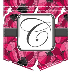 Tulips Iron On Faux Pocket (Personalized)