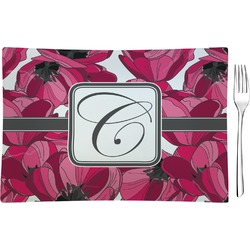 Tulips Rectangular Appetizer / Dessert Plate (Personalized)