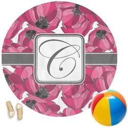 Tulips Round Beach Towel (Personalized)