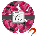 Tulips Round Car Magnet (Personalized)