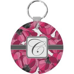 Tulips Round Keychain (Personalized)