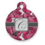 Tulips Round Pet Tag (Personalized)